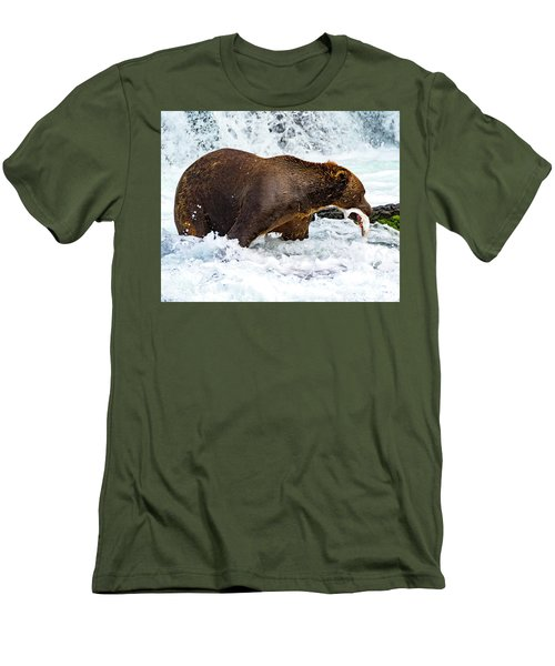 Alaska Brown Bear Men's T-Shirt (Athletic Fit)