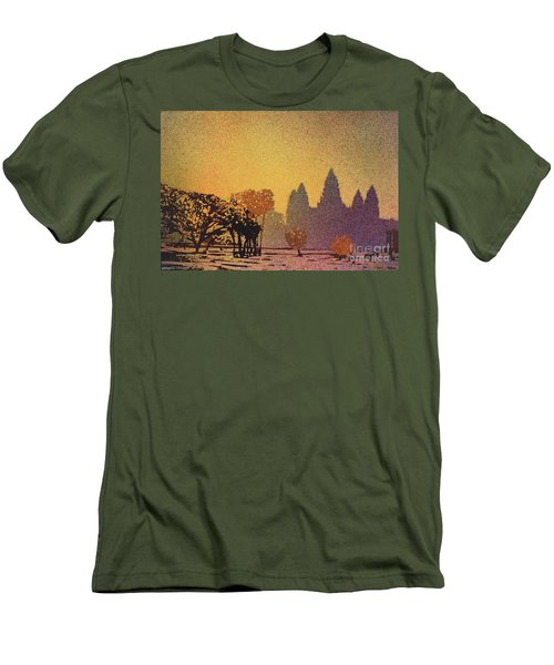 Angkor Sunrise Men's T-Shirt (Athletic Fit)