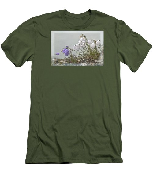 Men's T-Shirt (Slim Fit) featuring the photograph Bellflower by Heiko Koehrer-Wagner