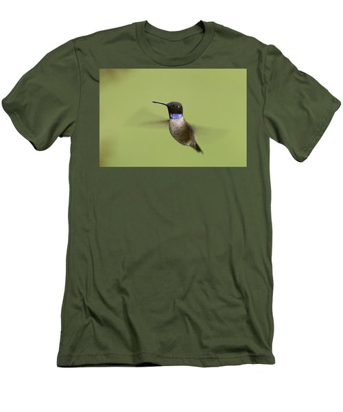 Men's T-Shirt (Slim Fit) featuring the photograph Black-chinned Hummingbird by Doug Herr