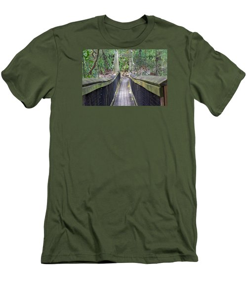 Bridge To Paradise Men's T-Shirt (Slim Fit) by Kenneth Albin