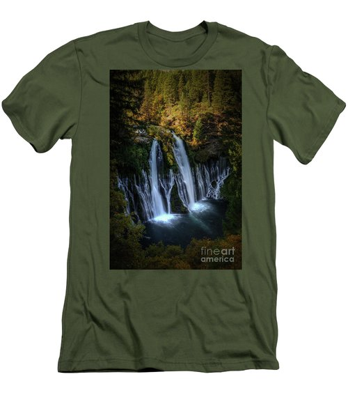 Burney Falls Men's T-Shirt (Slim Fit) by Kelly Wade