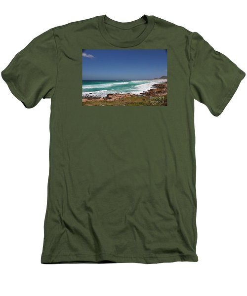 Capetown Peninsula Beach  Men's T-Shirt (Athletic Fit)