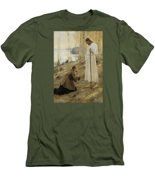Christ And Mary Magdalene Men's T-Shirt (Athletic Fit)