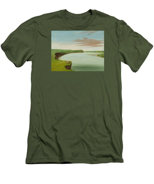 Distant View Of The Mandan Village Men's T-Shirt (Athletic Fit)