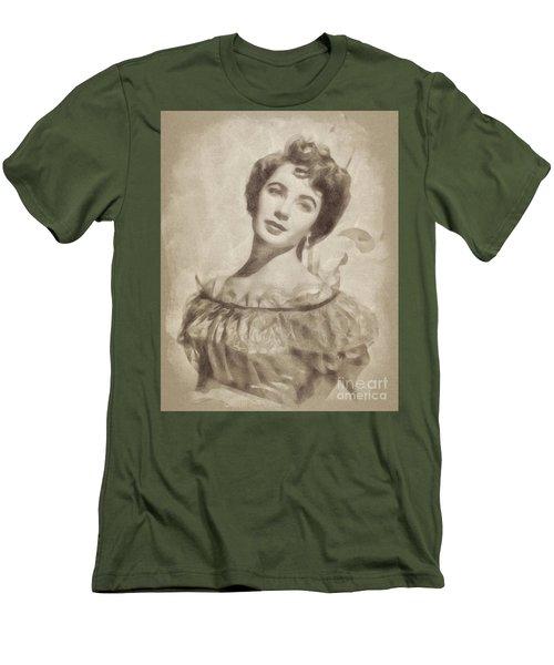 Elizabeth Taylor, Vintage Hollywood Legend By John Springfield Men's T-Shirt (Athletic Fit)