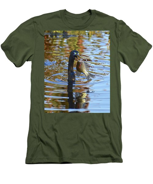 Fish, It's What's For Dinner Men's T-Shirt (Slim Fit) by Carol Bradley