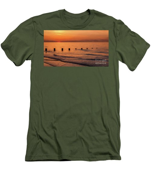 Men's T-Shirt (Slim Fit) featuring the photograph Golden Sunset by Adrian Evans