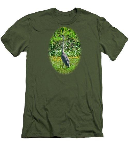 Great Blue Heron Men's T-Shirt (Slim Fit) by Deborah Good