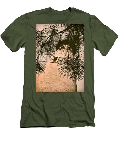 Island Lighthouse Men's T-Shirt (Slim Fit) by JAMART Photography