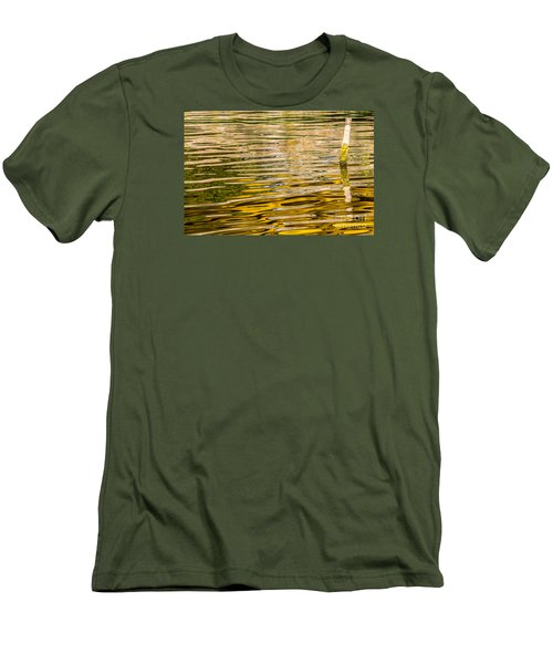 Men's T-Shirt (Slim Fit) featuring the photograph Lake Reflection by Odon Czintos