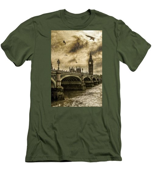 Men's T-Shirt (Slim Fit) featuring the photograph London by Jaroslaw Grudzinski