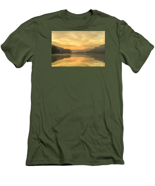 Misty Morning On The Lake Men's T-Shirt (Slim Fit) by Thomas R Fletcher