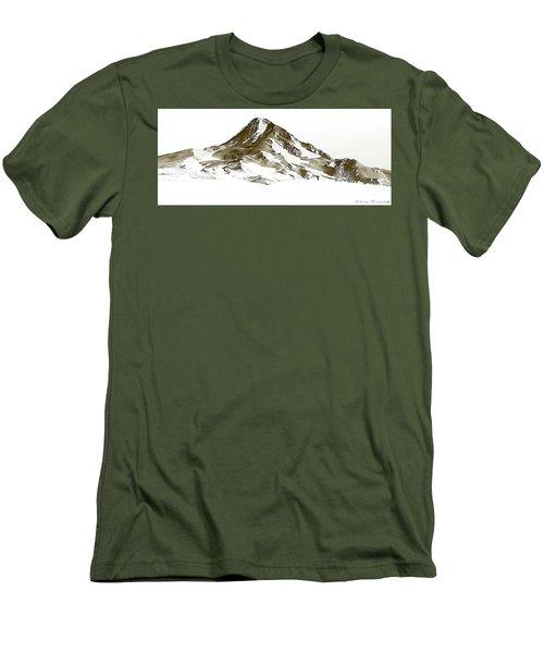 Mt. Hood Men's T-Shirt (Slim Fit) by Steve Warnstaff