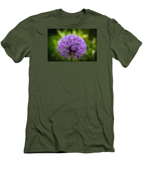 Pink Flower Men's T-Shirt (Slim Fit) by Andre Faubert