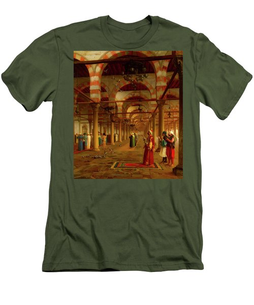 Men's T-Shirt (Slim Fit) featuring the painting Prayer In The Mosque by Jean-Leon Gerome