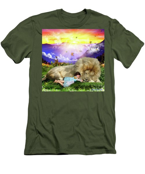 Men's T-Shirt (Slim Fit) featuring the digital art Rest  by Dolores Develde