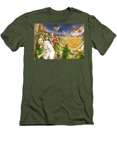 Robin Hood And Matilda Men's T-Shirt (Slim Fit) by Reynold Jay