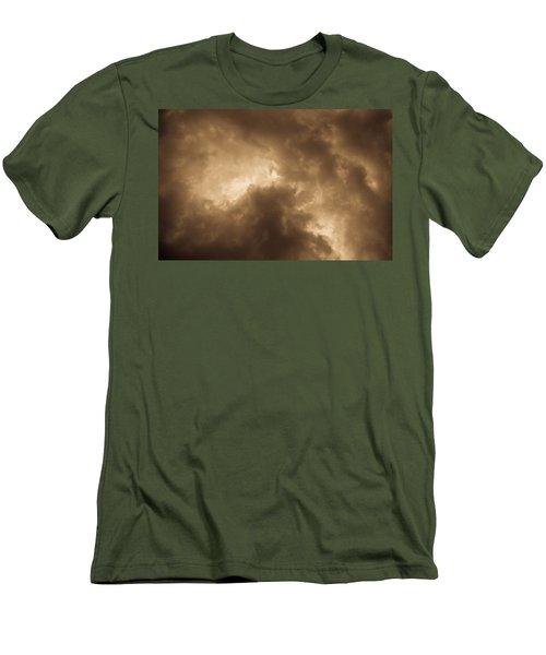 Sepia Clouds Men's T-Shirt (Athletic Fit)