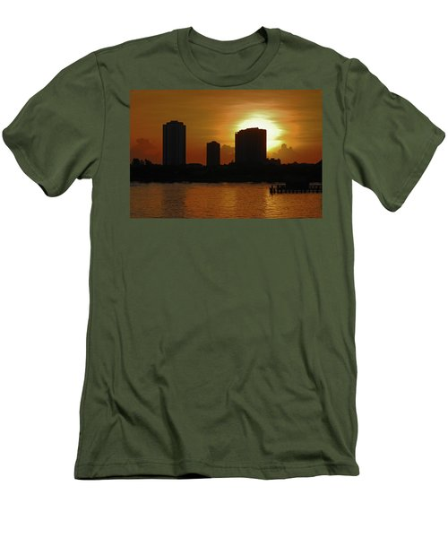 Men's T-Shirt (Slim Fit) featuring the photograph 2- Singer Island by Joseph Keane