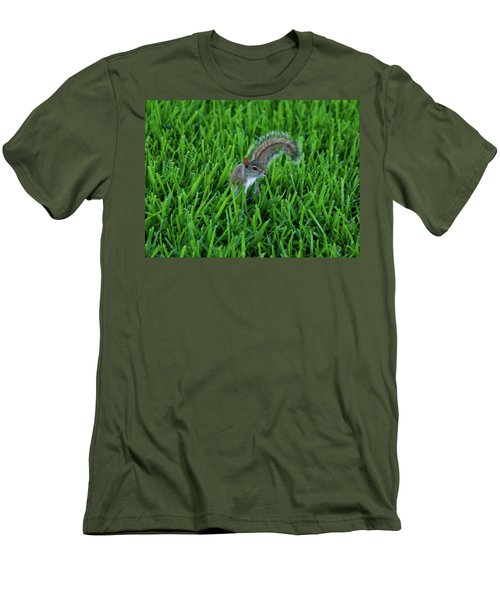 Men's T-Shirt (Slim Fit) featuring the photograph 2- Squirrel by Joseph Keane