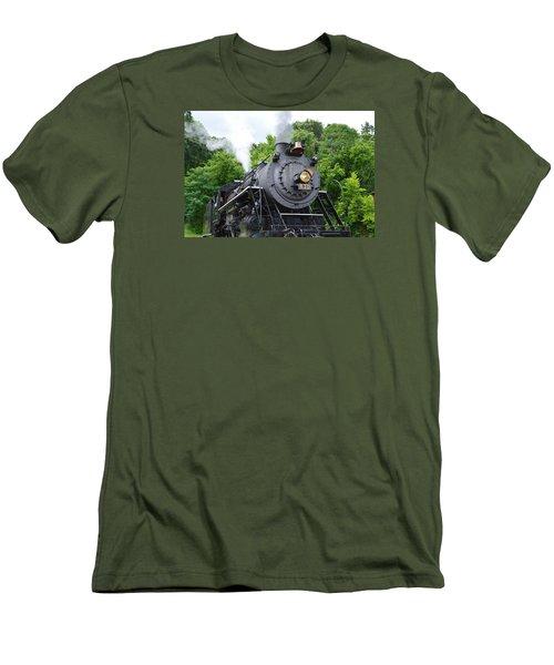 Steam Engline Number 630 Men's T-Shirt (Slim Fit) by Linda Geiger