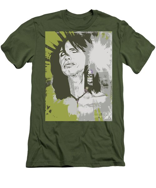 Men's T-Shirt (Slim Fit) featuring the painting Steven Tyler  by Jeepee Aero