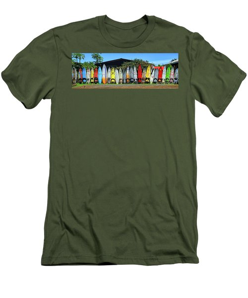 Surfboard Fence Maui Hawaii Men's T-Shirt (Athletic Fit)