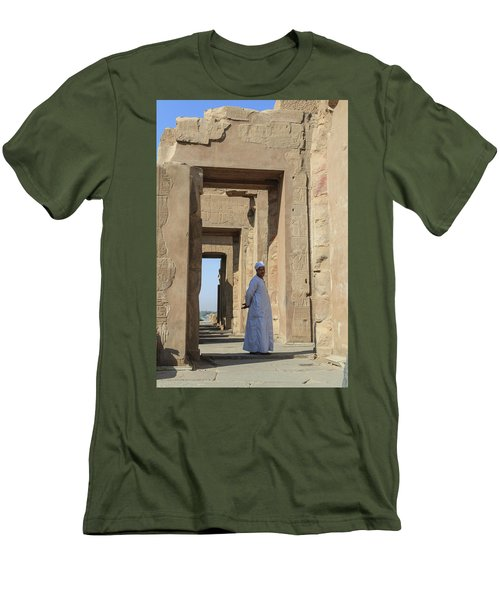 Men's T-Shirt (Athletic Fit) featuring the photograph Temple Of Kom Ombo by Silvia Bruno