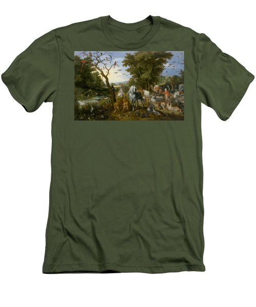 The Entry Of The Animals Into Noah's Ark Men's T-Shirt (Athletic Fit)