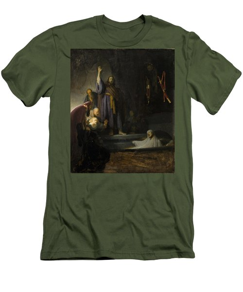 The Raising Of Lazarus Men's T-Shirt (Slim Fit) by Rembrandt