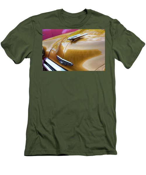 Men's T-Shirt (Athletic Fit) featuring the photograph Vintage Chevy Hood Ornament Havana Cuba by Charles Harden