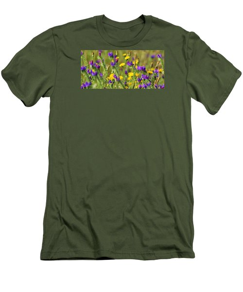 Men's T-Shirt (Slim Fit) featuring the photograph wild Flowers by Werner Lehmann