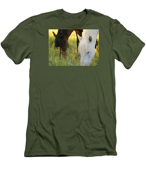 Wild Mustang Horses Men's T-Shirt (Athletic Fit)