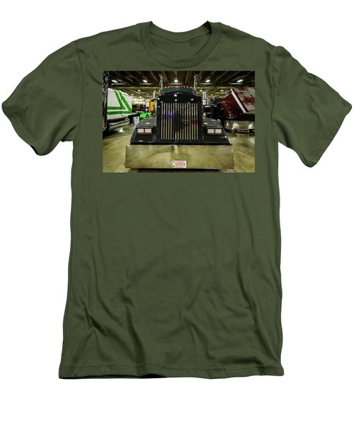 Men's T-Shirt (Slim Fit) featuring the photograph 2000 Kenworth W900 by Randy Scherkenbach