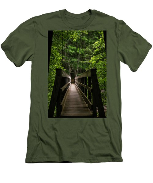 Men's T-Shirt (Athletic Fit) featuring the photograph At Bridge by Kevin Blackburn