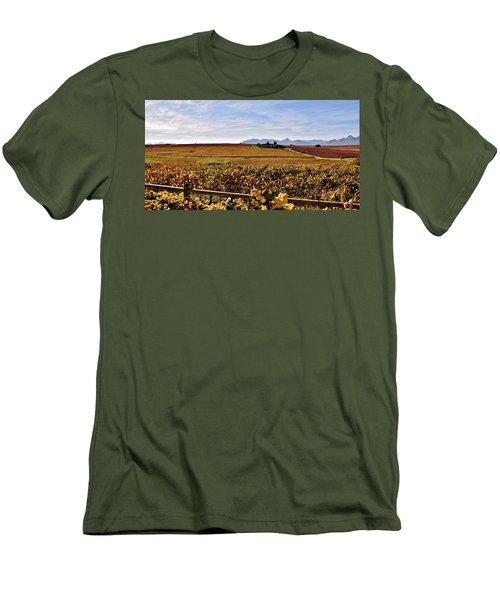 Autumn In The Vineyard Men's T-Shirt (Slim Fit) by Werner Lehmann