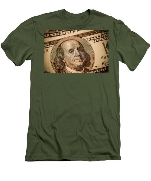 Men's T-Shirt (Slim Fit) featuring the photograph Benjamin Franklin by Les Cunliffe