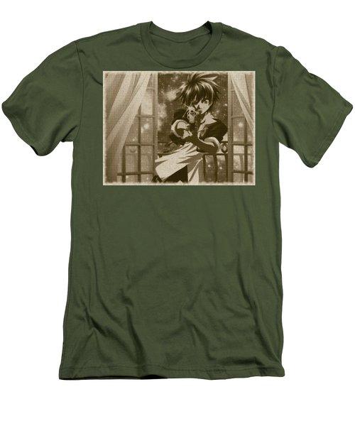 Black Cat Men's T-Shirt (Athletic Fit)
