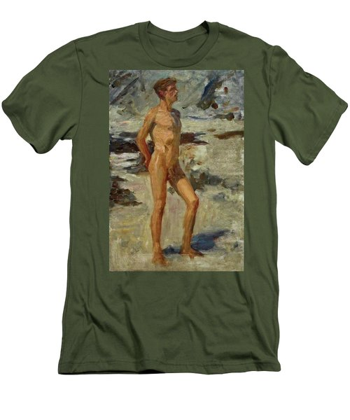 Boy On A Beach Men's T-Shirt (Athletic Fit)