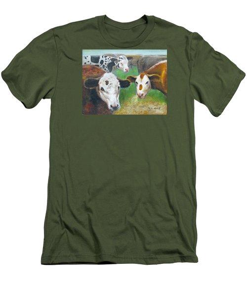 3 Cows Men's T-Shirt (Slim Fit) by Oz Freedgood