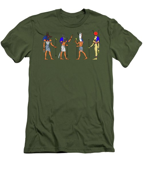 Egyptian Gods And Goddess Men's T-Shirt (Athletic Fit)