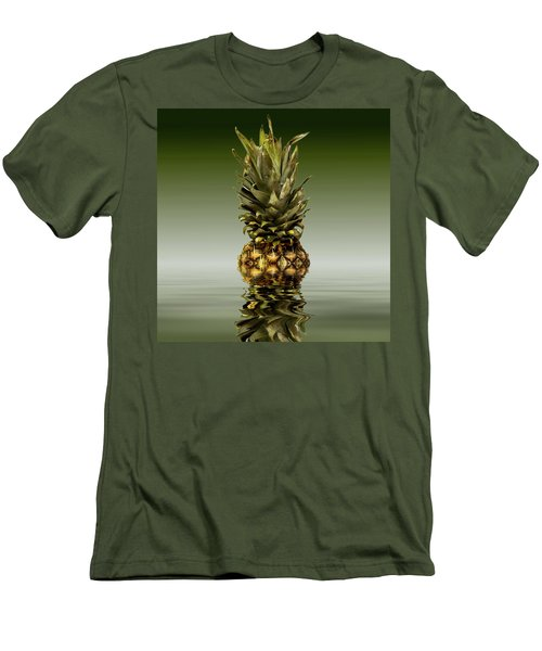 Men's T-Shirt (Slim Fit) featuring the photograph Fresh Ripe Pineapple Fruits by David French