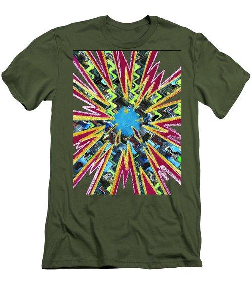 Goodluck Star Sparkles  Men's T-Shirt (Slim Fit) by Navin Joshi