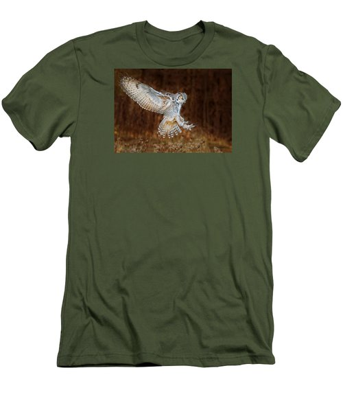 Great Horned Owl Men's T-Shirt (Slim Fit) by CR Courson