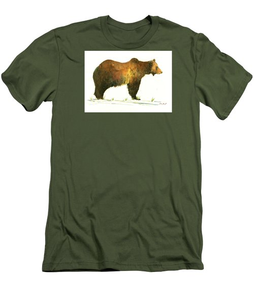 Grizzly Brown Bear Men's T-Shirt (Athletic Fit)
