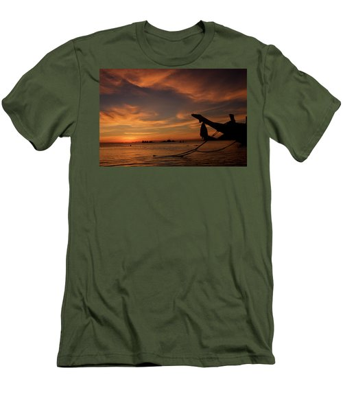 Koh Tao Island In Thailand Men's T-Shirt (Slim Fit) by Tamara Sushko