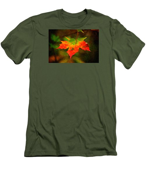Maple Leaf Men's T-Shirt (Slim Fit) by Andre Faubert