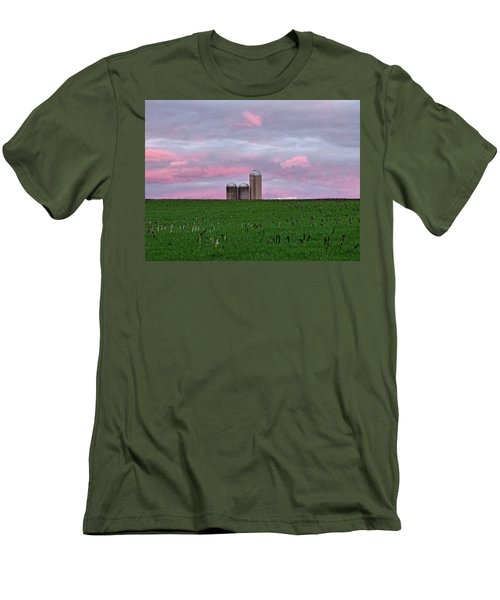 Men's T-Shirt (Slim Fit) featuring the photograph 3 Silos by Robert Geary