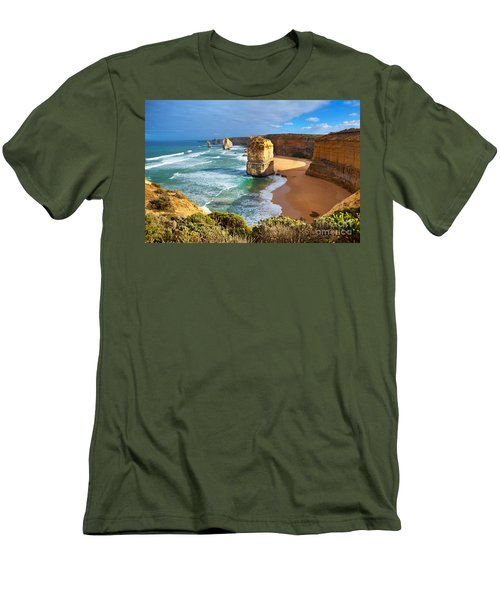 Men's T-Shirt (Slim Fit) featuring the photograph Twelve Apostles Great Ocean Road by Bill  Robinson